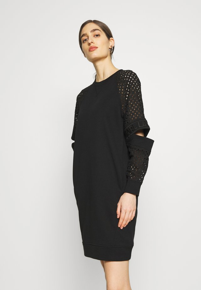 CUT OUT DRESS - Vestido informal - black