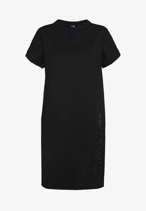 ADDRESS DRESS - Jersey dress - black
