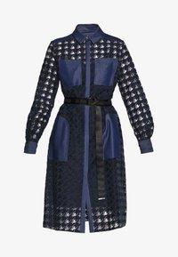 KARL LAGERFELD - BURN OUT DRESS - Vestido camisero - blue - 4