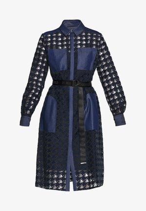 BURN OUT DRESS - Košilové šaty - blue