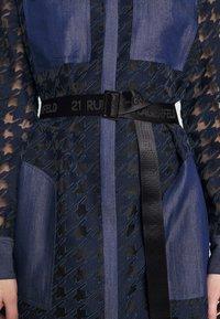 KARL LAGERFELD - BURN OUT DRESS - Vestido camisero - blue - 5