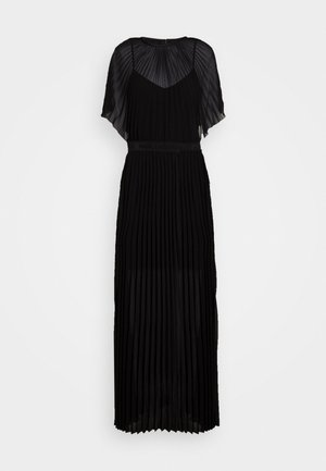 PLEATED MAXI DRESS - Abito da sera - black
