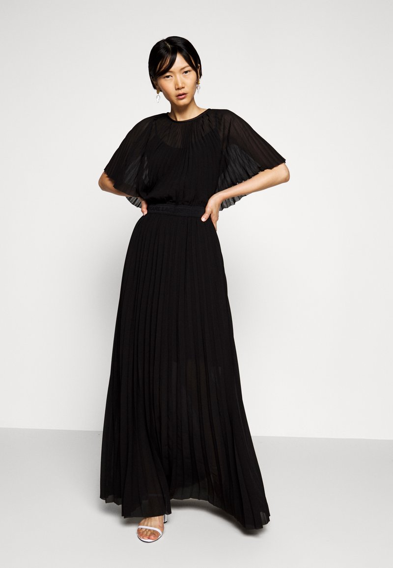 KARL LAGERFELD - PLEATED MAXI DRESS - Abito da sera - black