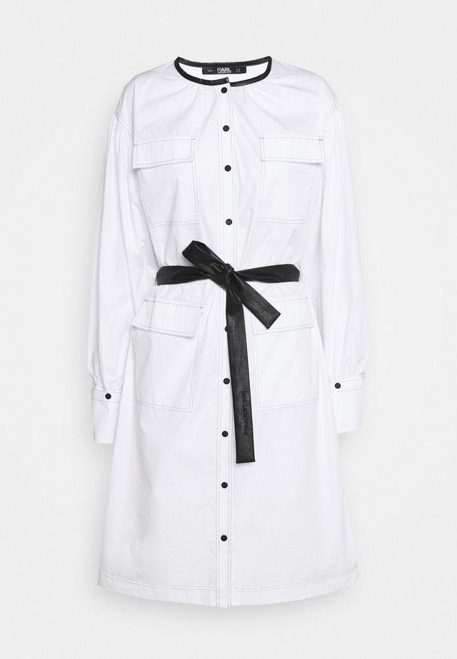 POPLIN DRESS WITH POCKETS - Blousejurk - white