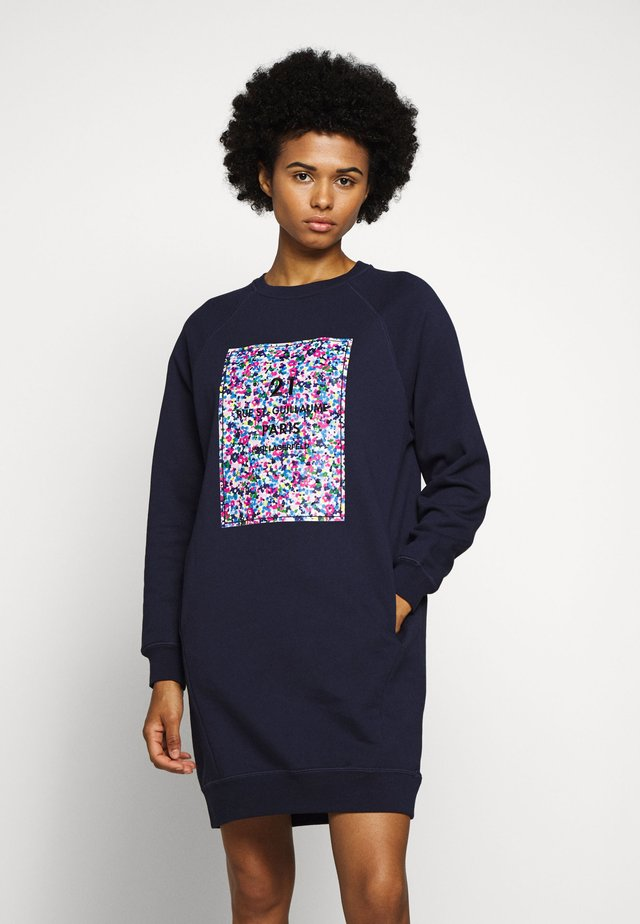 FLORAL ADDRESS LOGO  - Vestido informal - peacoat