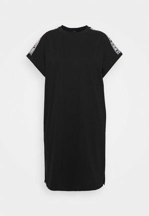 MERCERIZED DRESS  - Jerseyjurk - black