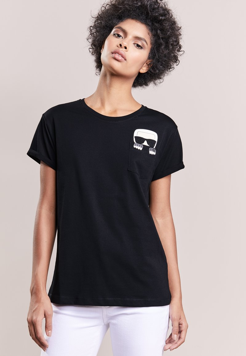 KARL LAGERFELD - ICONIC KARL - T-shirt print - black