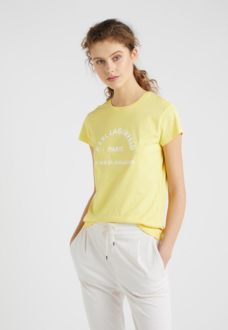 KARL LAGERFELD - ADDRESS TEE - T-Shirt print - gold finch