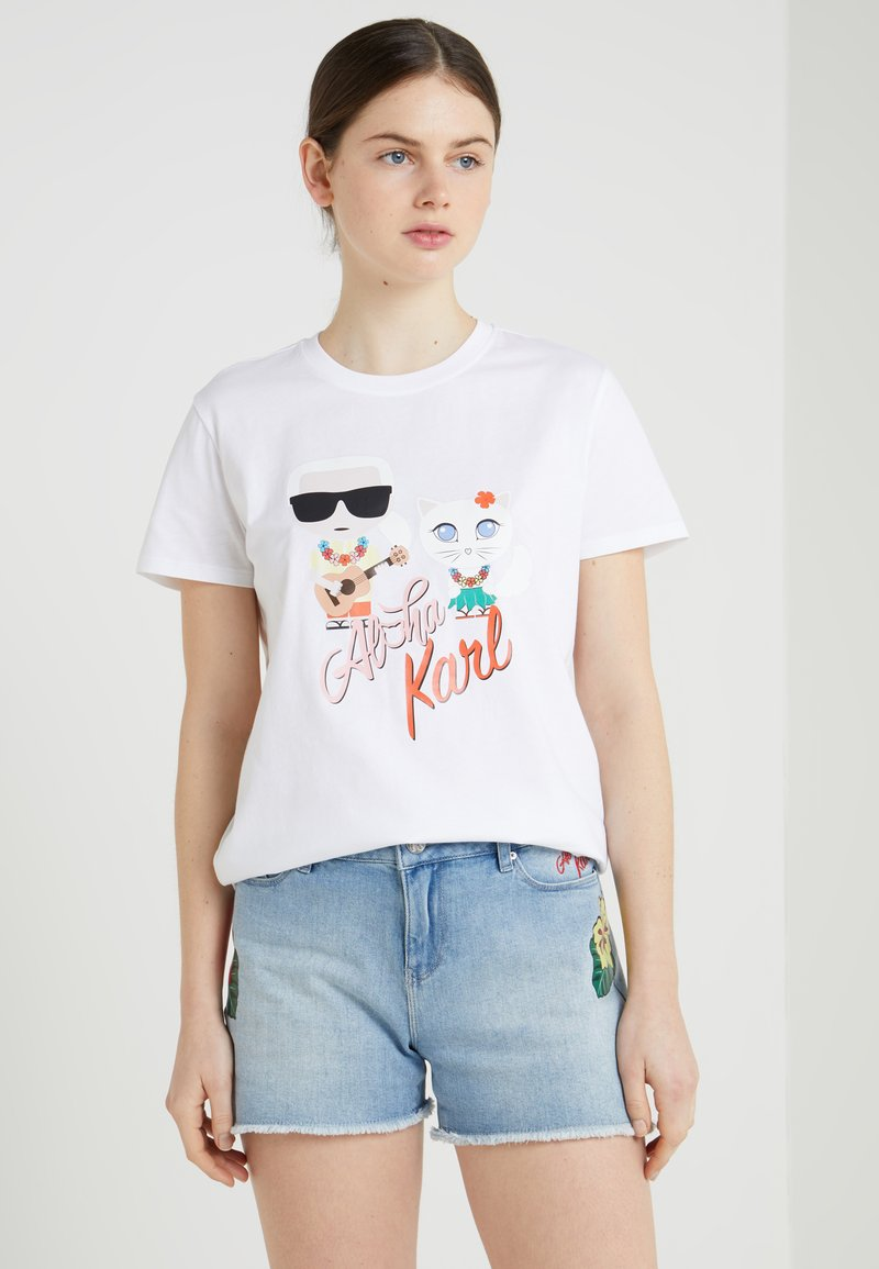 KARL LAGERFELD - HAWAII CHOUPETTE TEE - T-shirts med print - white