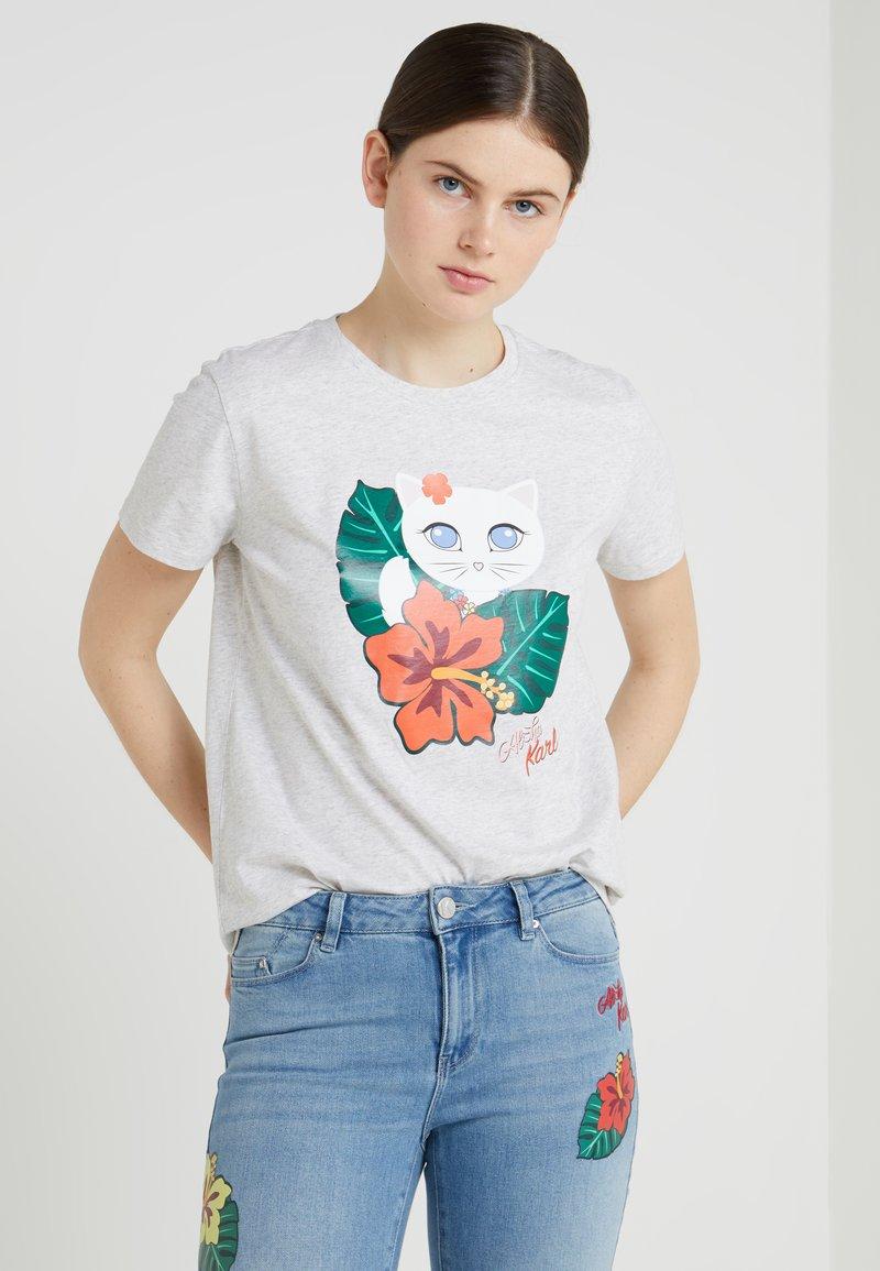 KARL LAGERFELD - HAWAII CHOUPETTE - T-Shirt print - light grey melange