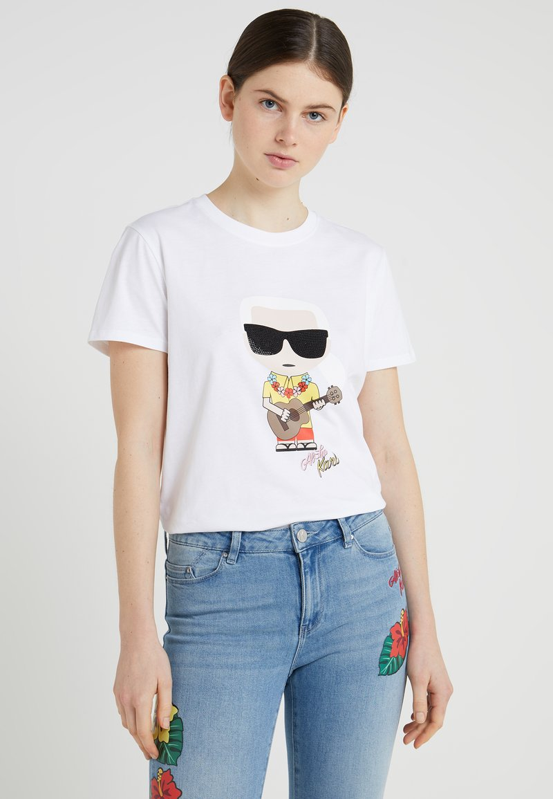 KARL LAGERFELD - HAWAII  - T-Shirt print - white