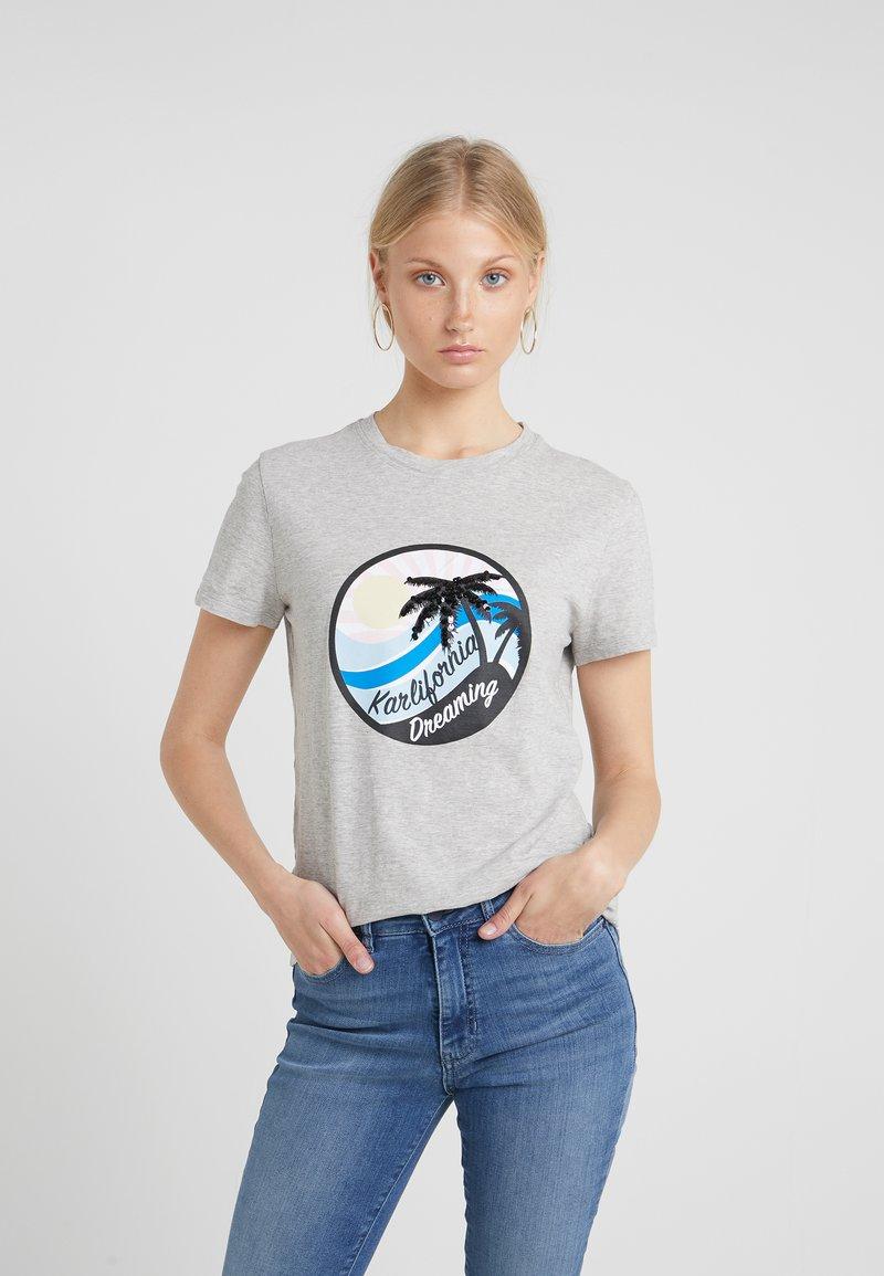 KARL LAGERFELD - KAROLIFORNIA - T-Shirt print - grey melange