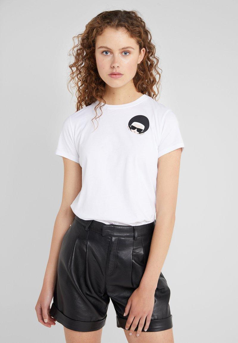 KARL LAGERFELD - IKONIK  - Camiseta estampada - white