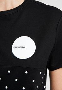 KARL LAGERFELD - PUNTO - Printtipaita - black - 5