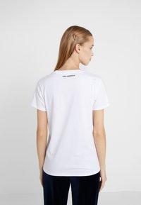 KARL LAGERFELD - Printtipaita - white - 2