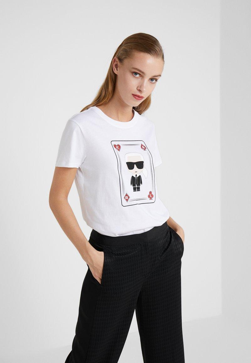 KARL LAGERFELD - CHOUPETTE - T-Shirt print - white
