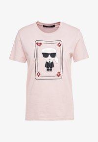 KARL LAGERFELD - CHOUPETTE - T-shirt print - pink - 3