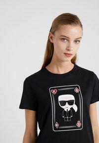 KARL LAGERFELD - CHOUPETTE - T-shirt print - black - 4