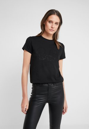 KARL X OLIVIA PROFILE TEE - Camiseta estampada - black