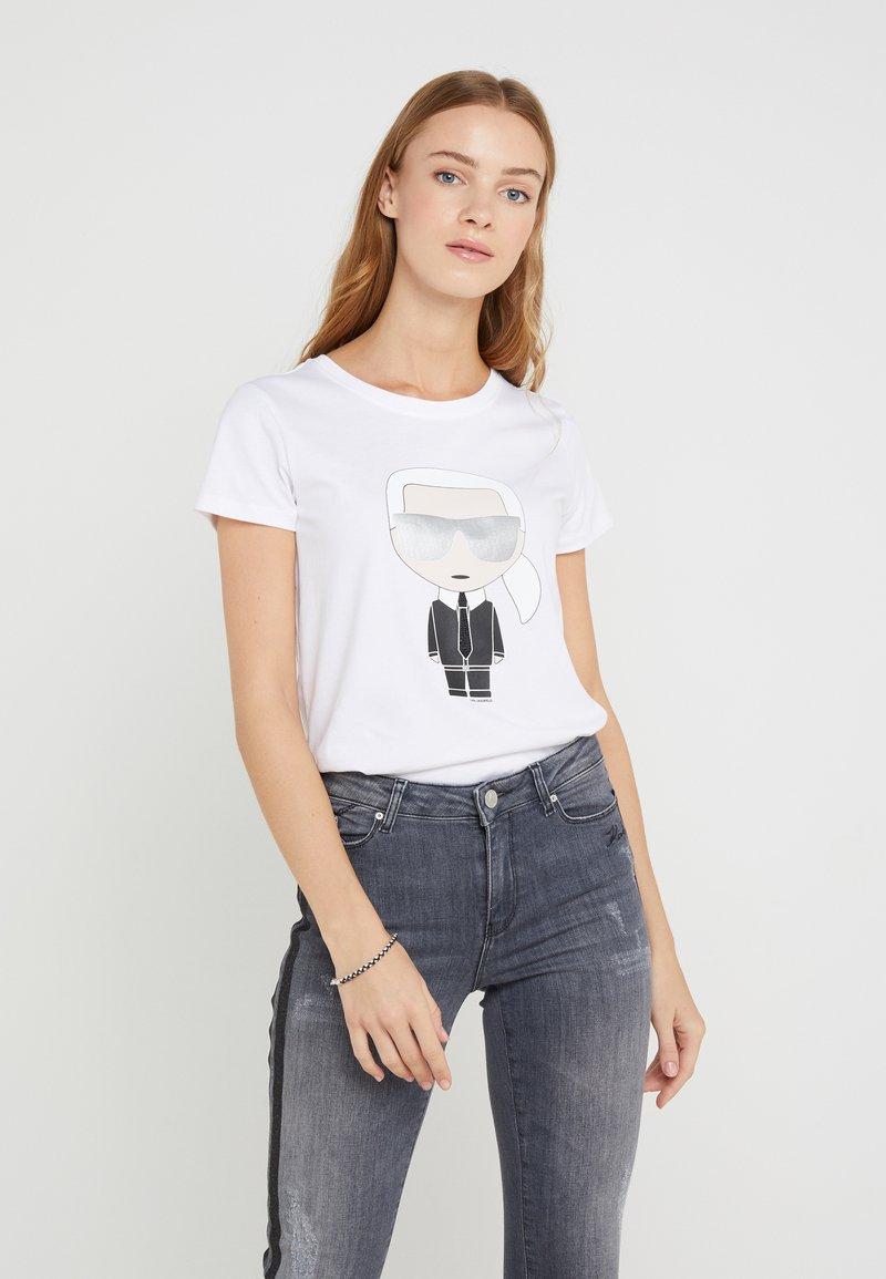 KARL LAGERFELD - IKONIK - T-Shirt print - white