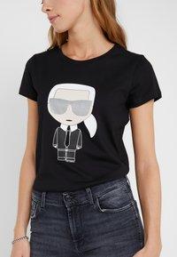KARL LAGERFELD - IKONIK - Camiseta estampada - black - 4