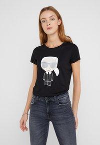 KARL LAGERFELD - IKONIK - Camiseta estampada - black - 0