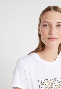 KARL LAGERFELD - DOUBLE LOGO  - Print T-shirt - white - 4