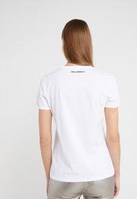 KARL LAGERFELD - DOUBLE LOGO  - Print T-shirt - white - 2
