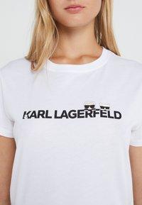 KARL LAGERFELD - IKONIK LOGO - Triko spotiskem - white - 4