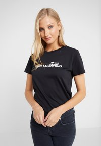 KARL LAGERFELD - IKONIK LOGO - T-shirts med print - black - 0