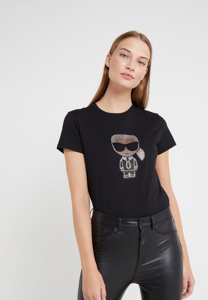 KARL LAGERFELD - IKONIK  - Camiseta estampada - black
