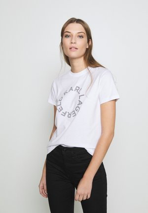 CIRCLE LOGO - T-shirt print - white