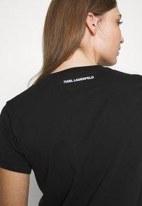 KARL LAGERFELD - CIRCLE LOGO - Camiseta estampada - black - 5