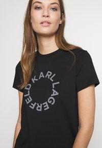 KARL LAGERFELD - CIRCLE LOGO - T-shirt print - black - 3