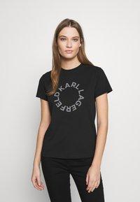 KARL LAGERFELD - CIRCLE LOGO - T-shirt print - black - 0
