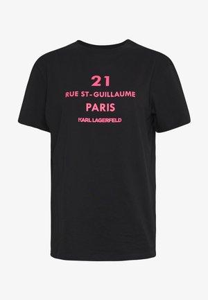 RUE GUILLAUME LOGO - T-shirt imprimé - black