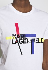 KARL LAGERFELD - Triko spotiskem - white - 6