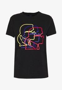 KARL LAGERFELD - PROFILE TEE - T-shirt z nadrukiem - black - 4