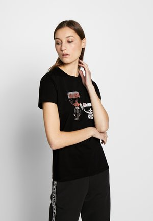 IKONIK RHINESTONE - T-shirt print - black