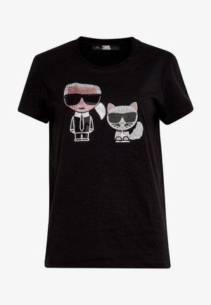 IKONIK RHINESTONE - Print T-shirt - black