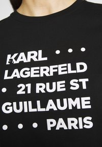 KARL LAGERFELD - STACKED LOGO ADRESS  - T-shirt print - black - 4