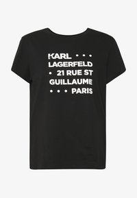 KARL LAGERFELD - STACKED LOGO ADRESS  - T-shirt print - black - 3