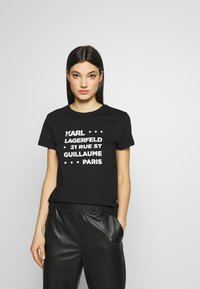 KARL LAGERFELD - STACKED LOGO ADRESS  - T-shirt print - black - 0