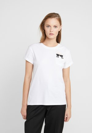 IKONIK KARL POCKET  - T-shirt z nadrukiem - white