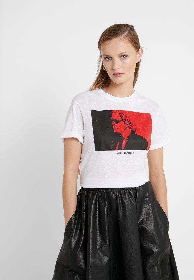 LEGEND COLORBLOCK - T-shirt med print - white