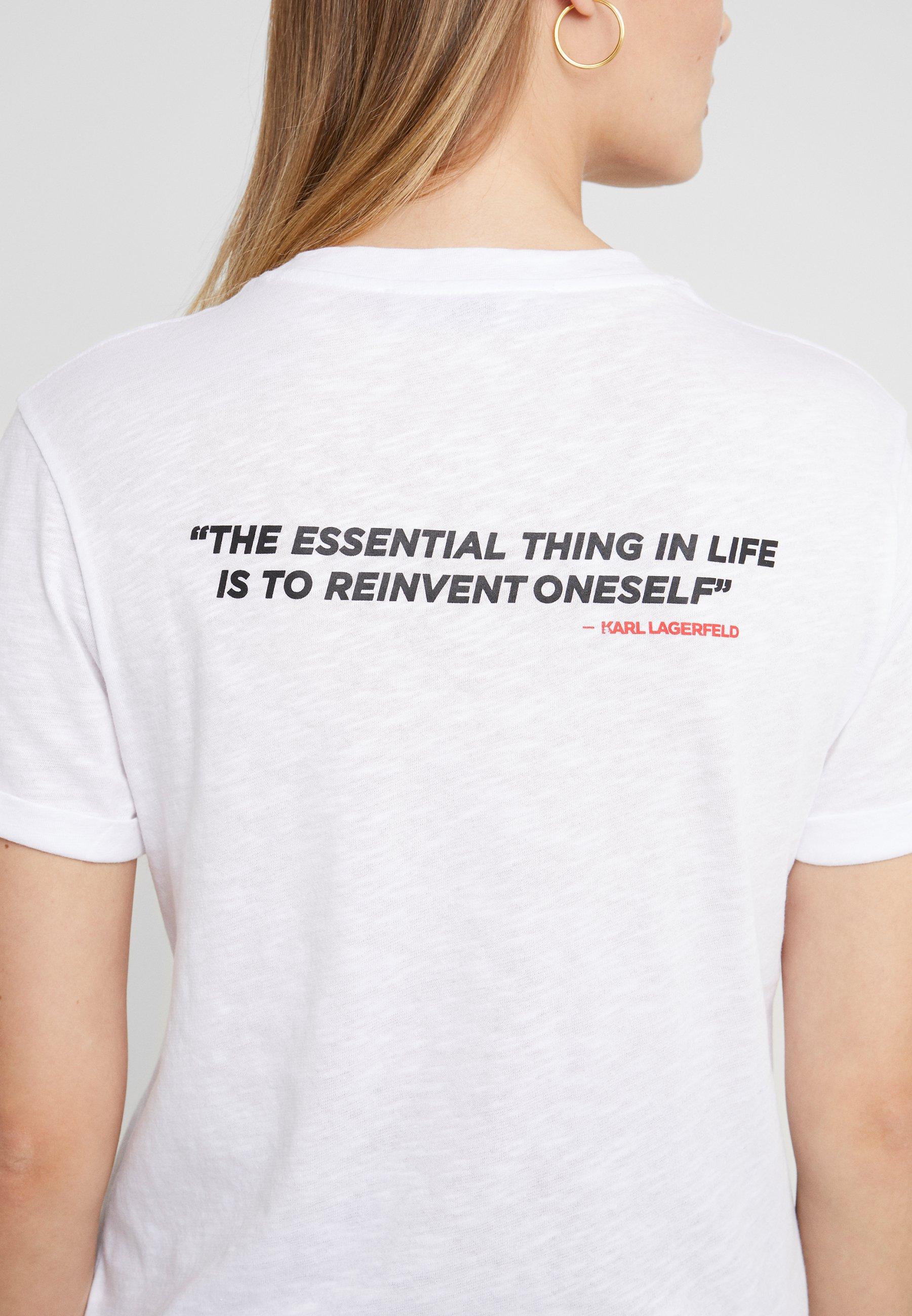 Karl Lagerfeld Legend Colorblock - T-shirt Imprimé White YDJNhOC