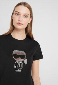 KARL LAGERFELD - IKONIK RHINESTONE  - T-shirts med print - black - 3