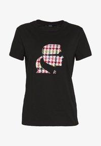KARL LAGERFELD - BOUCLE HEAD - Camiseta estampada - black - 5