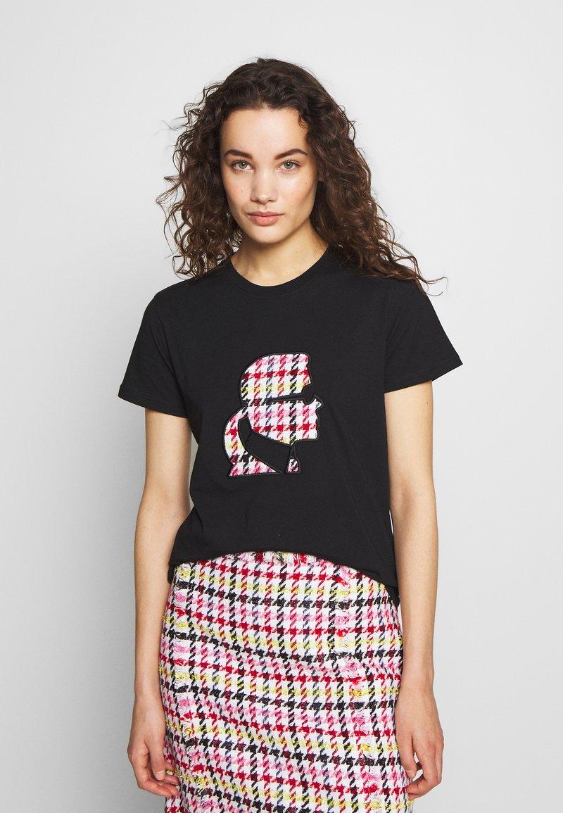 KARL LAGERFELD - BOUCLE HEAD - Camiseta estampada - black