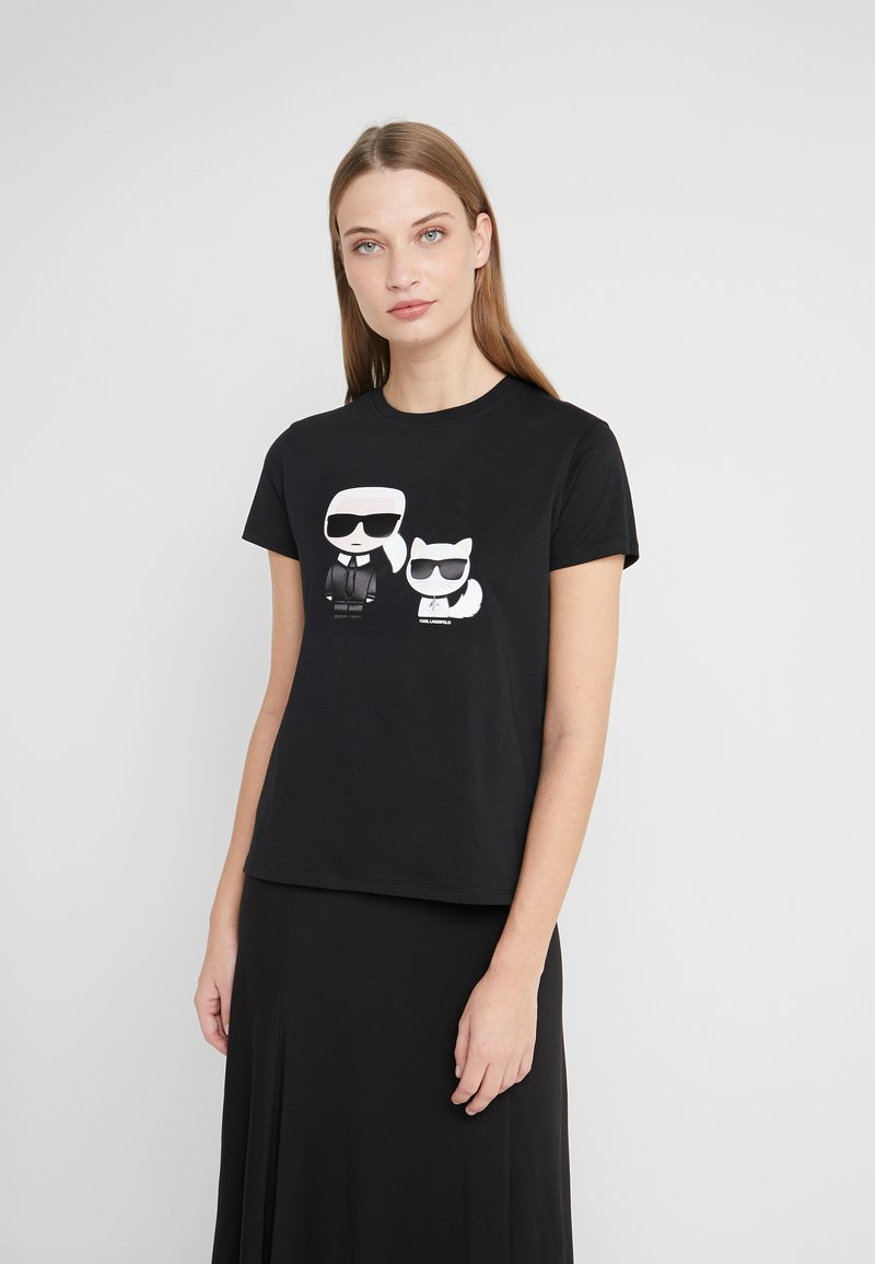 KARL LAGERFELD - IKONIK CHOUPETTE TEE - T-shirt imprimé - black